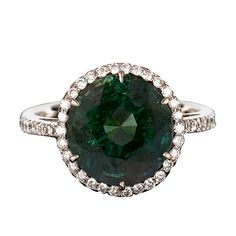 Alexandrite & Diamond Ring, 5.50 carats | From a unique collection of vintage solitaire rings at http://www.1stdibs.com/rings/solitaire-rings/