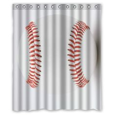 custom baseball shower curtain baseball bathroom