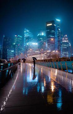 Singapore Rain, me, photography, 2019 - Art Singapore City, Singapore Photos, Singapore Travel, Night Aesthetic, City Aesthetic, Night Photography, Street Photography, Places To Travel, Places To Visit