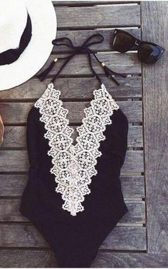 lace one piece.