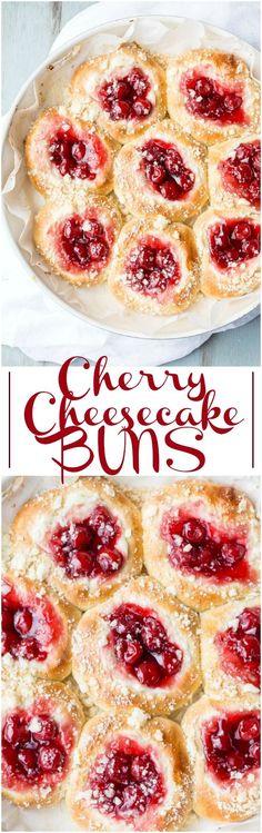 Cherry Cheesecake Buns Recipe
