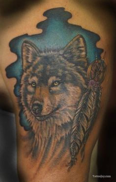Indian Wolf Tattoo