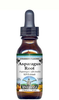 Asparagus Root Glycerite Liquid Extract (1:5) Strawberry Flavored