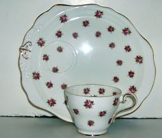 Aynsley Rose Tea and Toast Cup and Saucer by EricksonExchange on Etsy