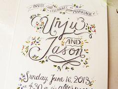 Hand drawn Invitations, Rustic Garden Wedding. £4.00, via Etsy.