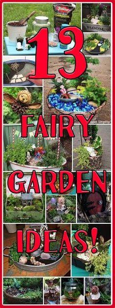 It's a Miniature Garden and Fairy Garden Roundup on the Mini Garden Guru Blog! #miniaturefairygardens