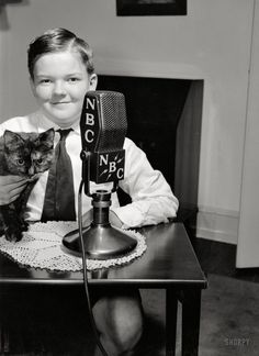 Finally, my affection for old time radio and chubby cheeked children meet in one adorable picture. (1938)