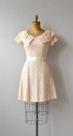 Honeylane dress blush lace 1960s dress vintage 60s by DearGolden