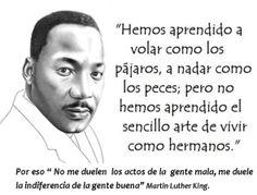 Frase celebre de Martin Luther King                                                                                                                                                                                 Más
