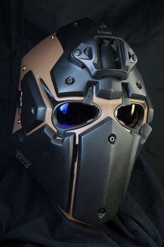 DevTac Ronin Kevlar Level 3A Tactical Ballistic Bullet Proof Helmet.    http://popularairsoft.com/devtac-ronin-airsoft-mask-now-has-ballistic-helmet-version and/or http://everydaynodaysoff.com/2015/06/01/devtac-ronin-kevlar-ballistic-helmet-mall-ninjas-rejoice/ and/or http://facebook.com/DEVTAC/posts/765794966801592