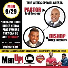 My pastor, Joel Gregory, will be on Atlanta's gospel station today-102.5. This is a real talk session for the men, and women can learn more info as well. Enjoy!