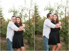 Apple orchard rustic engagement portraits Maryland wedding photographer | Jenna Shriver Photography