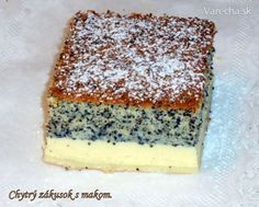 Chytrý zákusok s makom (fotorecept) - Recept Slovak Recipes, Czech Recipes, Helathy Food, Sweet Recipes, Cake Recipes, Yummy Treats, Yummy Food, Toffee Bars, Kolaci I Torte