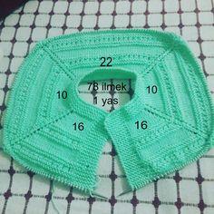 Knitting Baby Vest Robe Models and Constructions - Ada Su - Knitting Baby Vest Robe Models and Constructions – Ada Su - Diy Crafts Knitting, Easy Knitting Patterns, Knitting Stitches, Baby Patterns, Baby Knitting, Crochet Patterns, Crochet Round, Crochet For Kids, Diy Crochet