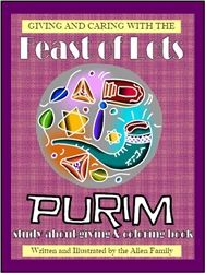 $3.20  This 32 page book is a coloring book and Bible study about GIVING and CARING. We celebrate the Feast of Lots (Purim) with GIVING to OTHERS. This coloring book explores the scriptures and shows children where to find the scriptures about these topics.Digital Download.