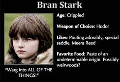 Game of Thrones Trading Cards - Bran Stark