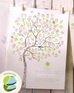 LARGE A3 Fingerprint tree teachers gift, classroom gift, thank you card, graduation gift PLUS INKS