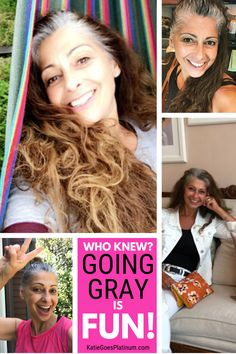 """Joanna shares her going gray journey and explains why she chose to embrace her """"silver sparkles"""", and how her family has been supportive of this journey to long gray hair. Long Silver Hair, Long Gray Hair, Grey Hair Journey, Grey Hair Inspiration, Gray Hair Growing Out, Transition To Gray Hair, Platinum Grey, Home Remedies For Hair, Going Gray"""