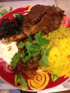 Make and share this Middle Eastern-Style Lamb Shanks recipe from Genius Kitchen. Lamb Recipes, Dinner Recipes, Cooking Recipes, Slow Cooking, Cooking Ideas, Lamb Shank Recipe, Egyptian Food, Lamb Shanks, Middle Eastern Recipes