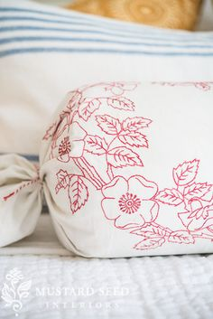 3 minute, no-sew bolster pillow cover | miss mustard seed