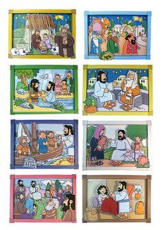 Bricolage Une série de maquette à réaliser en carton sur la vie de Jésus, proposée sur le site My Little House. My Little House