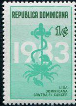 Francobolli - Lotta contro il cancro - Fight against cancer Dominicana 1983