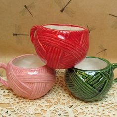 Creative mugs. #crochet#knit#yarn#hooks#needles#mugs#coffee#tea#love
