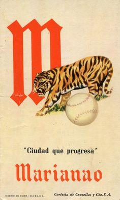 A 1952-53 Crusellas y Cia card featuring the Marianao team logo and motto, Ciudad que Progresa, the city that progresses.