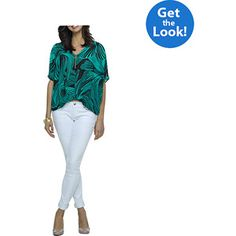 Women's Printed Top and Skinny Jeans #fittingroomspring