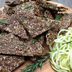 I Quit Sugar - Zucchini & Rosemary Seed Crackers