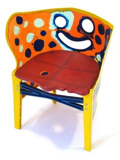 Available for sale from Patrick Parrish, Gaetano Pesce, Children's Chair (ca. 1990), Poured Resin, 20 × 16 × 13 in