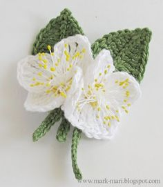Mark-Mari: Ж - Жасмин| free pattern + more flowers with free patterns