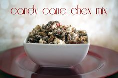 You must try this candy cane chex mix recipe this Christmas!