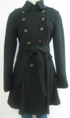 Guess Belted Wool Coat, Jacket, Black, X Large, Mh449 GUESS. $129.99