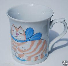 Vintage 1984 Aldon Accessorries LTD Cat Coffee Mug Cup Joan Berp Victor Japn Кружки и чашки