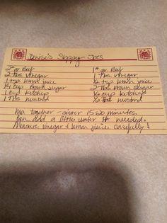 My mom's Sloppy Joes recipe