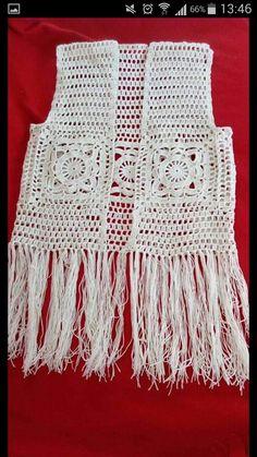 Crochet Girls, Easy Crochet, Knit Crochet, Crochet Cardigan, Crochet Shawl, Crochet Capas, Knitting Patterns, Crochet Patterns, Crochet Fashion