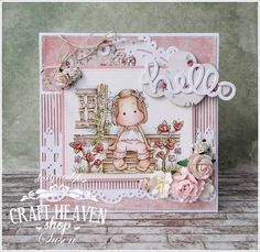 Good morning, today I have a card to share with two stamps from the brand new COUNTRY GIRL collection. Is this just a cute collectio...