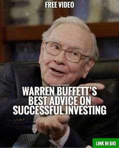 Billionaire Warren Buffett�s best advice on successful investing. Click link to see video.