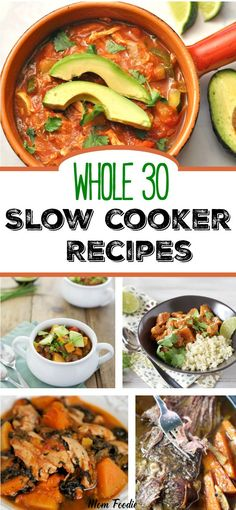 Whole 30 Slow Cooker Recipes #whole30 #whole30recipes #slowcooker #crockpot #paleo