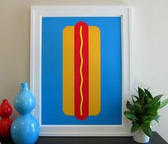 Hot Dog Print for the girl who loves street food