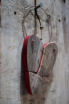 """Wooden """"Patched heart"""""""