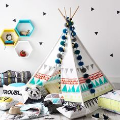 Ever wanted your very own teepee? Casa Kids, Childrens Playhouse, Adairs Kids, Adventure Nursery, Boys Bedroom Decor, Fashion Room, Room Themes, Boy Room, Playroom