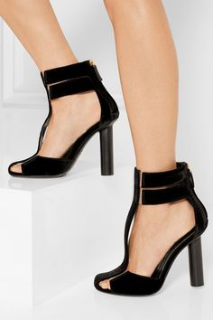 TOM FORD PVC-trimmed velvet T-bar sandals £1,020