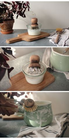 Home Made SOLID DISH SOAP  hilaydays blog DIY - GREEN - kitchen