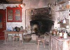 The fireplace at Bernard Leach's pottery as it looks today. Courtesy the Leach Pottery Restoration Project.