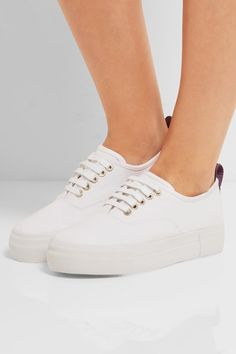 Eytys - Mother Cotton-canvas Sneakers - White - IT38