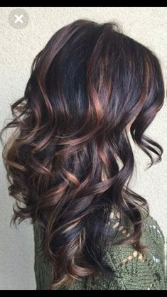 36 ideas for hair color curly highlights low lights - Fall Hair Colors Pinterest Hair, Hair Color Balayage, Bayalage, Great Hair, Hair Dos, New Hair, Hair Makeup, Witch Makeup, Skull Makeup