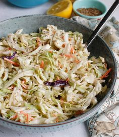 This is the Best Coleslaw Recipe that you will make time and time again. It comes together easily and only uses 5 ingredients. Healthy Coleslaw Recipes, Best Coleslaw Recipe, Coleslaw Mix, Salad Recipes, Best Side Dishes, Side Dish Recipes, Pork Sandwich, Sandwiches, Salad Dressing Container