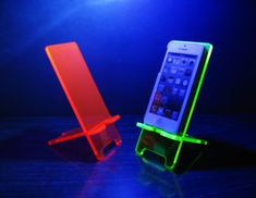 Neon Pink or Green iPhone 4/4S iPhone 5/5S Phone Stand Docking Station on Etsy, $21.00
